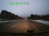 Вспышка от метеорита в Перми